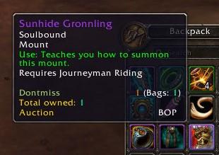 Sunhide Gronnling spell